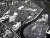 Aerial view of campus circa 1980
